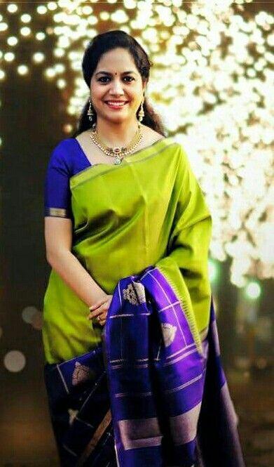Sunitha In Pattu Saree Beauty Of South India