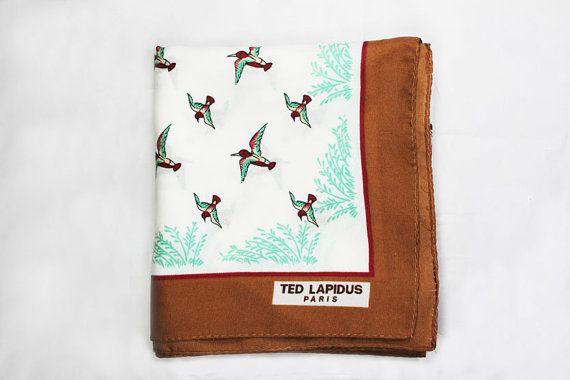 Ted Lapidus sjaal / Vintage sjaal / Bandana / eend patroon