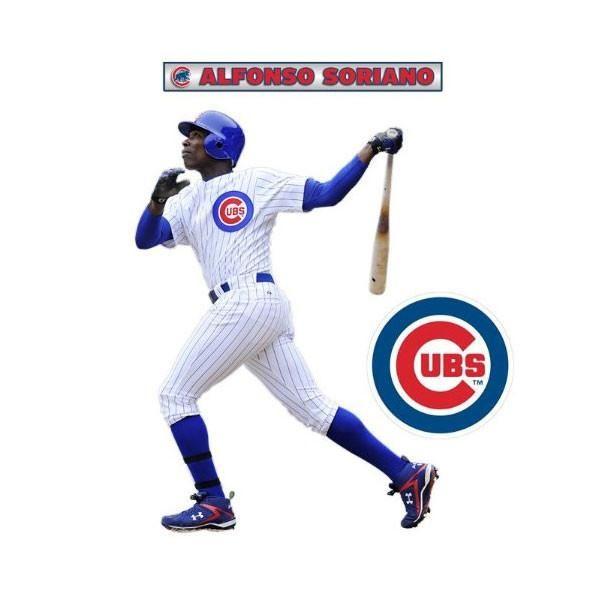 Alfonso Soriano Fathead Jr MLB Cubs Baseball Wall Sticker