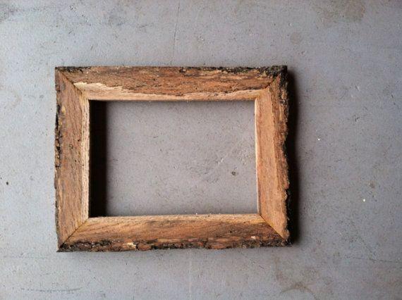5x7 wood bark frame woods etsy and frames. Black Bedroom Furniture Sets. Home Design Ideas