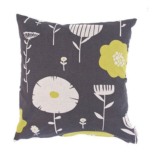 Wild Flowers Lemon Plum Cushion