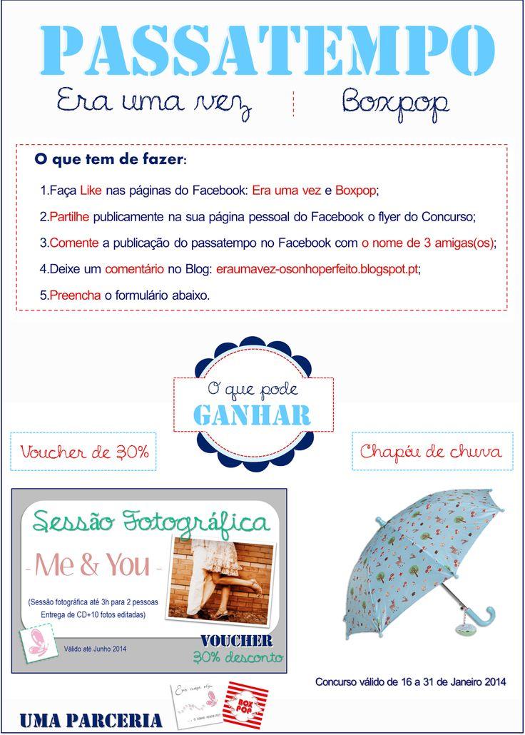 """5º Passatempo: """"Era uma vez"""" & """"Boxpop""""  Read more: http://eraumavez-osonhoperfeito.blogspot.pt/2014/01/5-concurso-era-uma-vez-boxpop.html"""