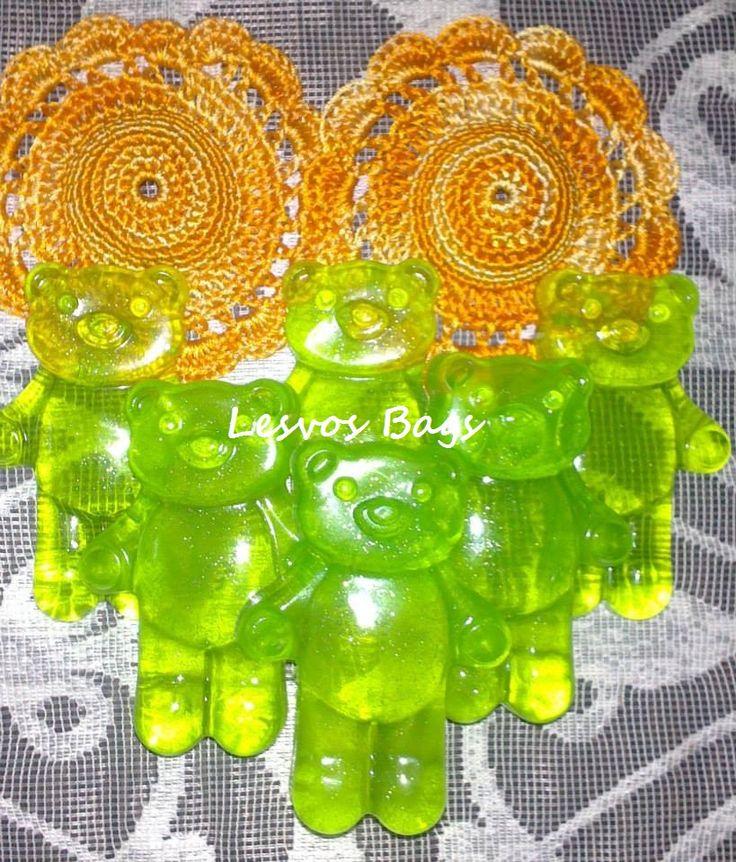 green soap bear
