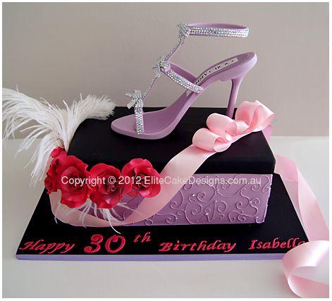 Glitz n Glamour Stiletto Birthday Cake, Birthday Cakes Sydney, Stiletto Birthday Cakes, Women's Shoe cake, Gucci, Jimmy Choo, Designer Cakes by EliteCakeDesigns