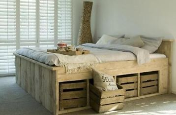 ≥ STEIGERHOUTEN bedombouw BEDDEN steigerhout BED KOPEN online - Slaapkamer | Bedden - Marktplaats.nl