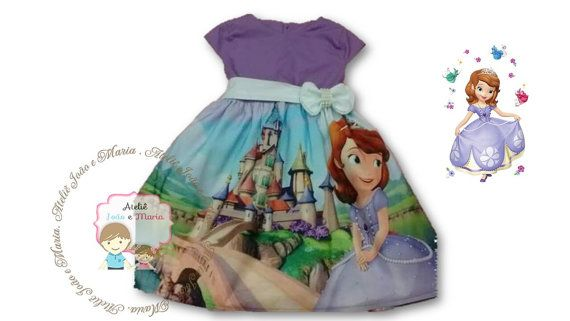 Sofia the First dress for Birthday costume or Photo shoot Sofia dress outfit Birthday dress Sofia costume Princess dress for Birthday party