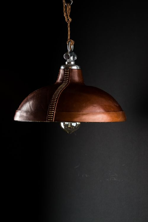 Felix Lighting Specialists | Hand Moulded and Stitched Leather Pendant