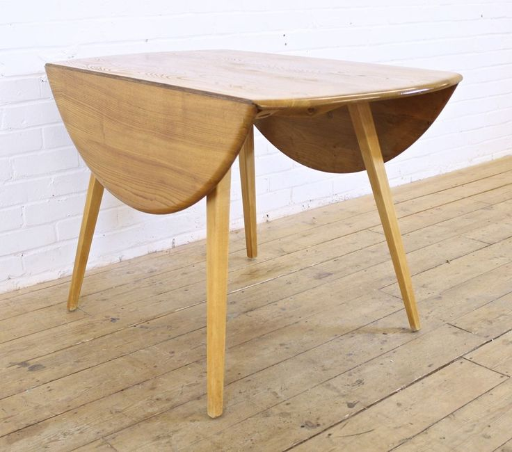 Ercol Oval Coffee Table: Vintage Ercol Windsor Light Elm Round Drop Leaf Dining