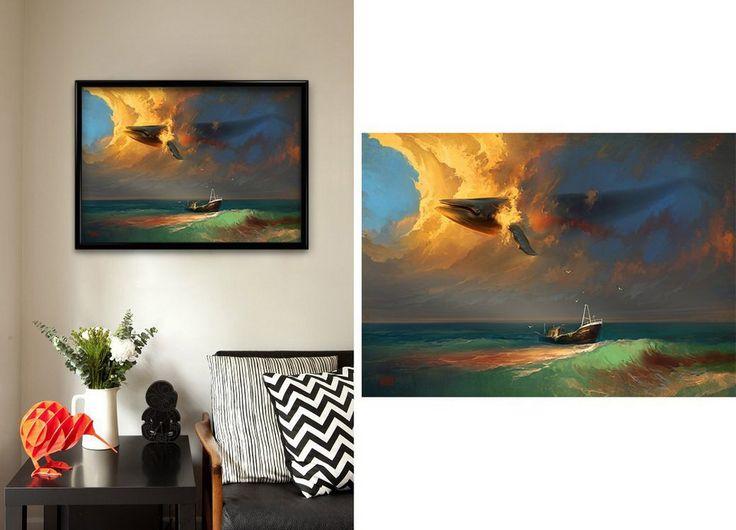 Купить Постер на стену «Скорбь по китам», RHADS в интернет-магазине Tasty-shop.ru