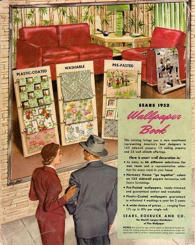 Harmony House Wallpapers 1952: 1950S, Wallpapers 1952, Design Ideas, Wallpapers Ideas, Bathroom Designs, Houses Wallpapers, Bathroom Decor, Harmony Houses, Design Bathroom