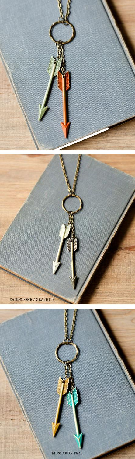 On Target Arrows Necklace #necklace #jewelry                                                                                                                                                                                 More
