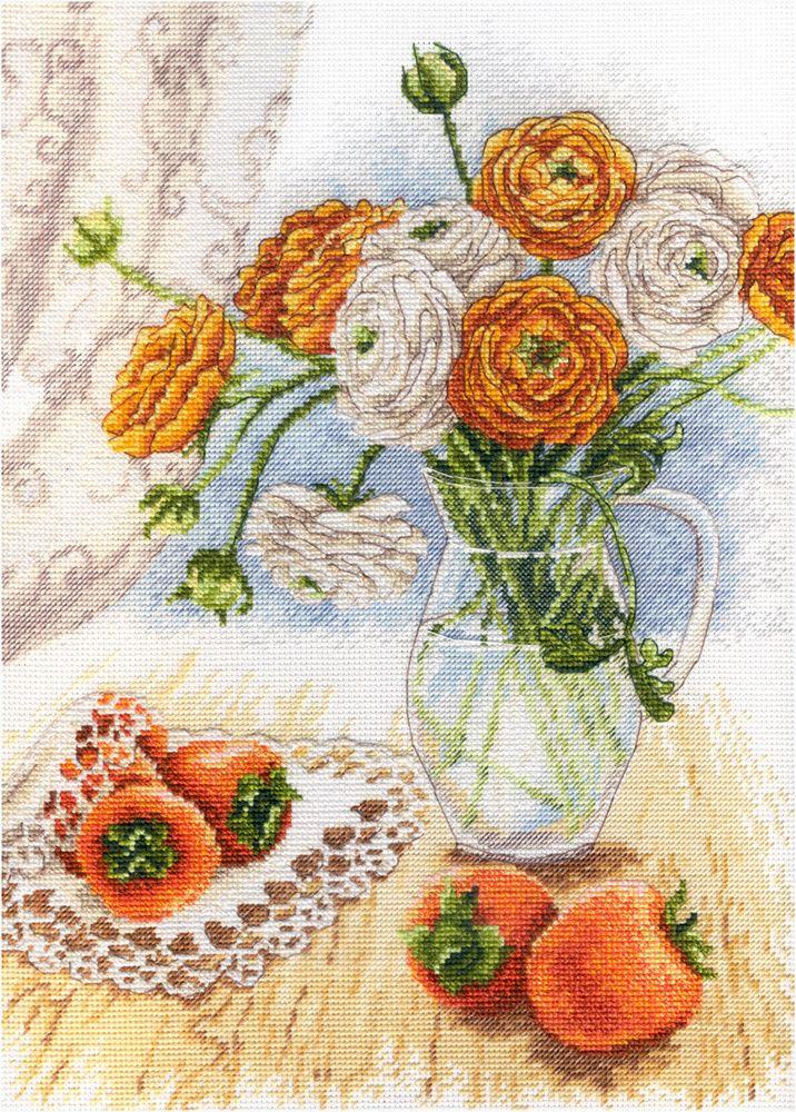 Вышивка Букет садовых лютиков МП Студия 597 купить набор