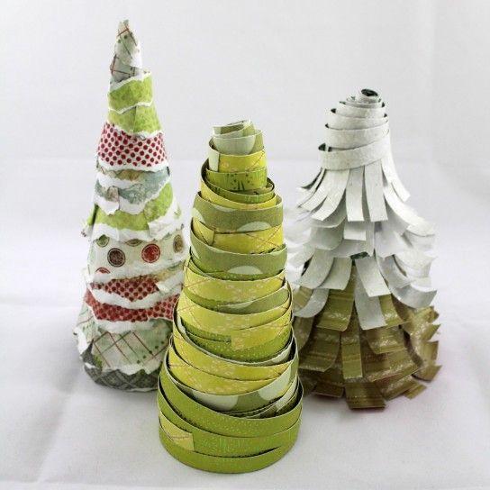 Albero di Natale di carta, fai da te ed ecologico - Albero Natale fai da te carta