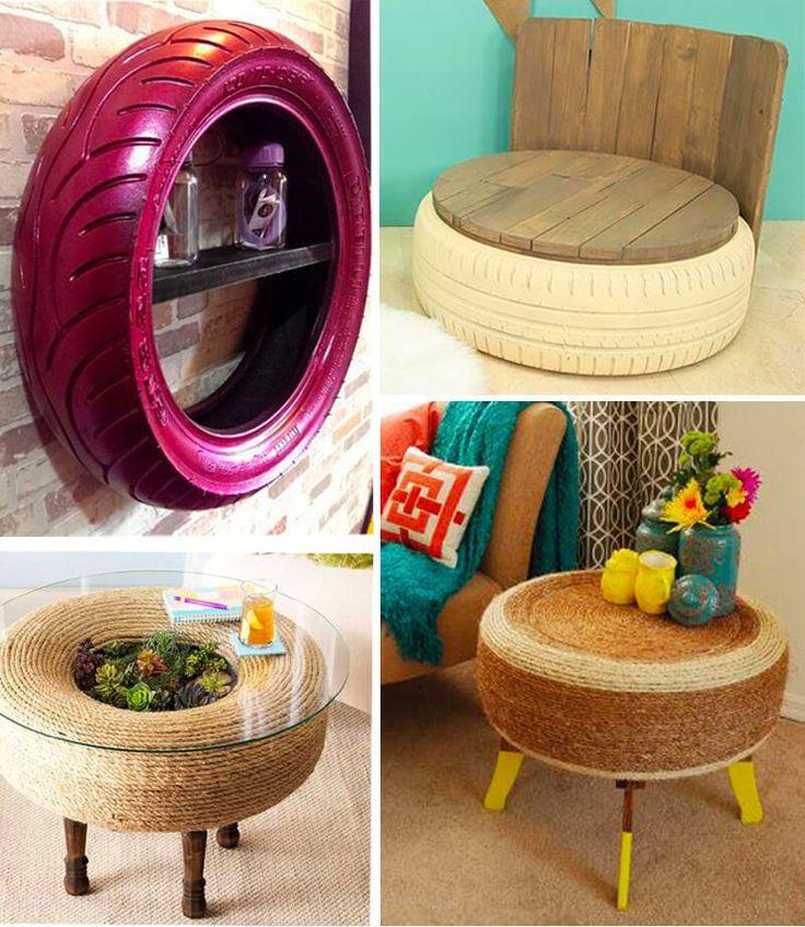 Las mejores ideas para reciclar neumáticos y decorar tu terraza o jardín Ideas Para Decorar Jardines, Vedic Mantras, Old Tires, Diy Earrings, Dog Bowls, Sweet Home, House Design, Projects, Handmade