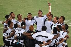 Image result for fijian team after their Olympic gold medal win