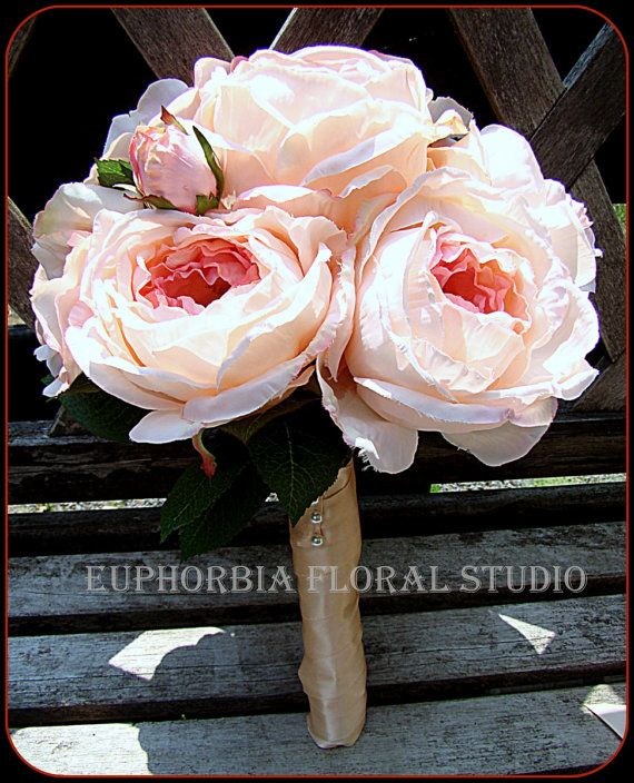 Pink Wedding Bouquet  Cabbage Rose Bridal by EuphorbiaFloral, $85.00