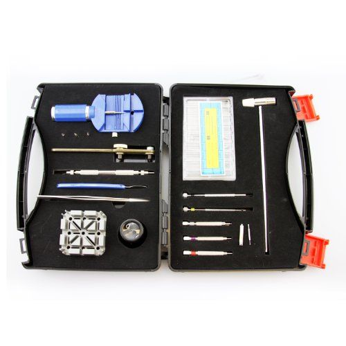 nice LB1 High Performance New Watch Repair Tool Kit for Rolex Submariner Black Dial Ceramic Bezel Steel Mens Watch 116610LN - 19 in 1 Professional Watch Repair Tool Set