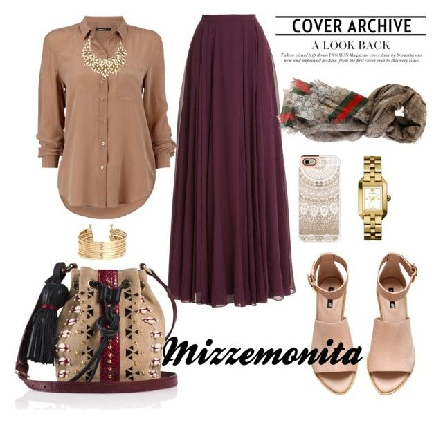 Be back again..... by mizzemonita on Polyvore featuring Halston Heritage, H&M, Tamara Mellon, Tory Burch, Oscar de la Renta, Gucci, Casetify, skirt, hijab and hijabstyle