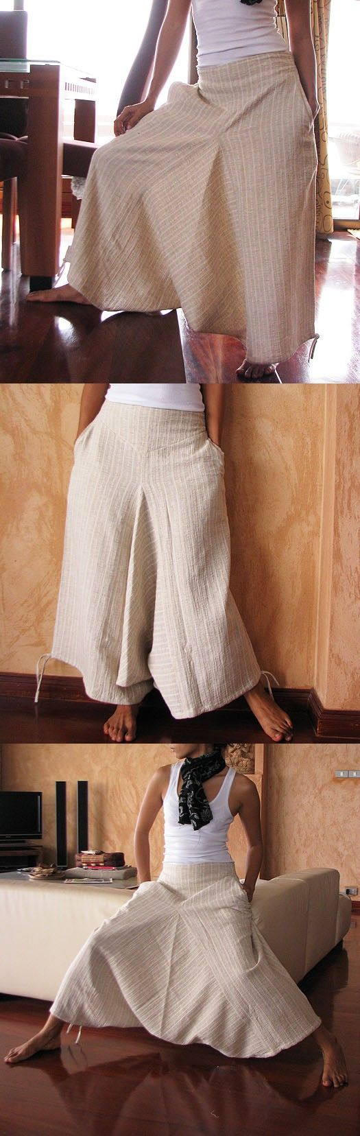 Cocoricoo on Etsy. I love these pants that look like a skirt, it would be great in the New Mexico wind!