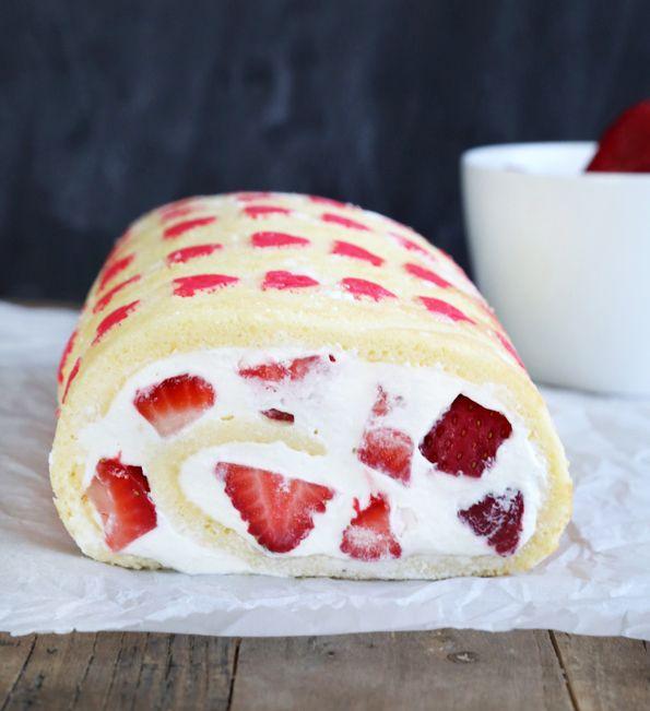 Gluten Free Strawberry Cake Roll