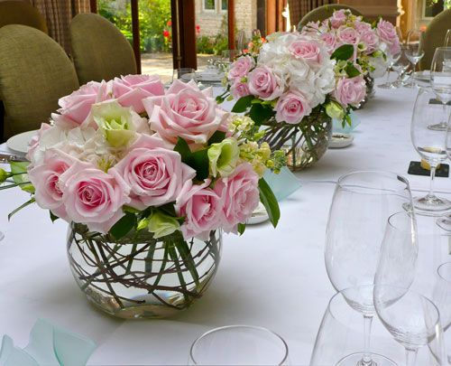 Roses in bowl with water...Google Image Result for http://www.weddingflowers-cotswolds.co.uk/images/rosebowls500.jpg