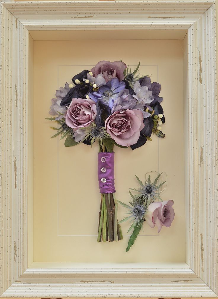 #Preserved lilac #roses and #freesias