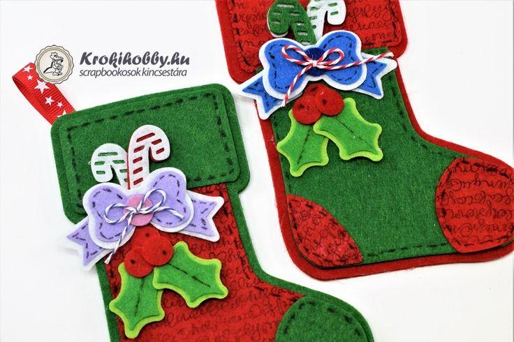 Karácsonyi zoknik  - Sizzix 662263