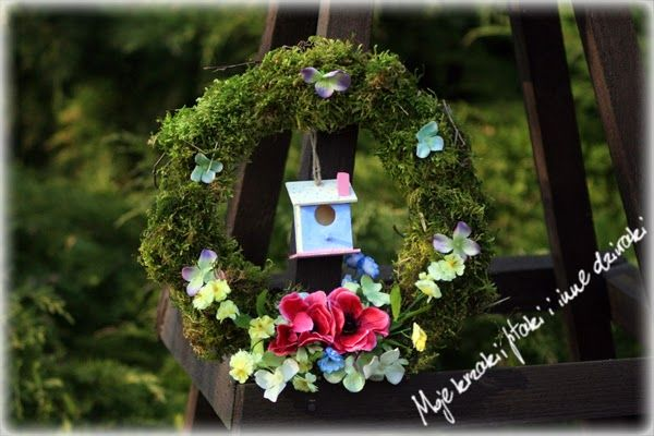 moss wreath, natural, spring wreath