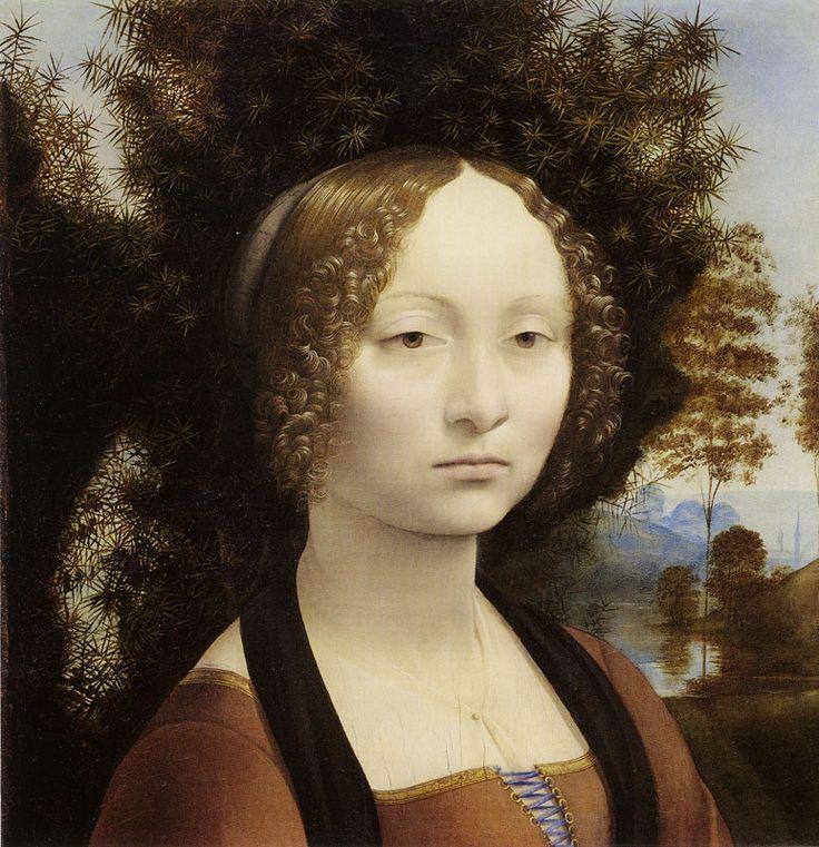 Leonardo da Vinci   Portrait of Ginevra de' Benci, c. 1474/78   42.7 x 37 cm Oil on wood National Gallery of Art, Washington, D.C.