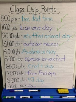 I like the rewards this teacher used for Class Dojo