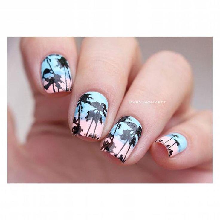 """Topatopa on Instagram: """"Joli nail art aux couleurs claires réalisé par @marymonkett avec la plaque TP01  #topatopa #topatopa_fr"""""""