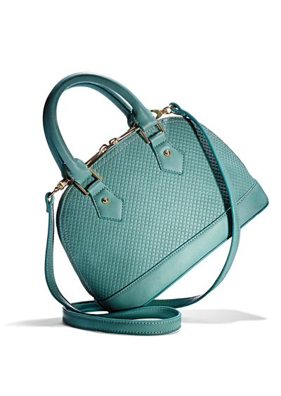 A convertible mini satchel in a perfect pastel.