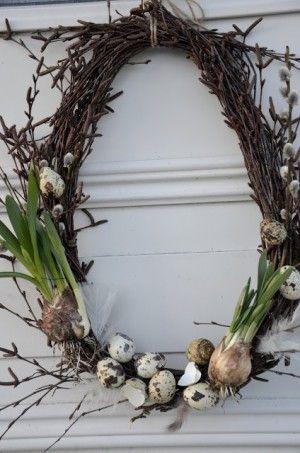 Wunderschöner und kreativer Frühlingskranz