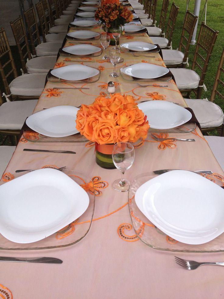 M s de 25 ideas bonitas sobre centros de mesa naranja en for Mesas de centro bonitas