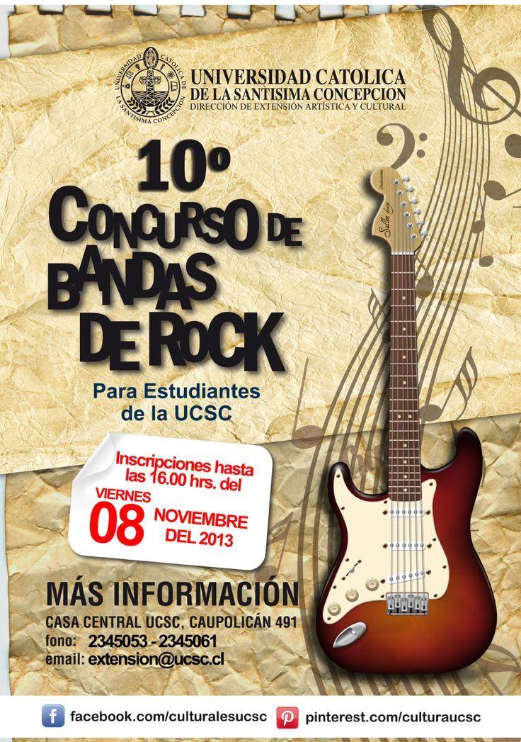 """Afiche para """"Concurso de Bandas de Rock"""""""