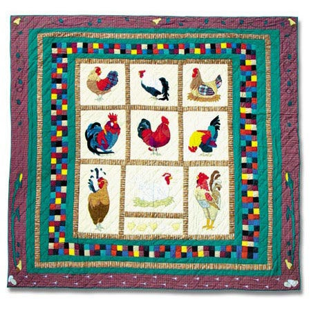 Roosters and hensTwin Quilt, Chook Quilt, Art, Patches Quilt, Patches Magic, Magic Roosters, Chicken Quilt, Roosters Quilt, Quilt Chicken