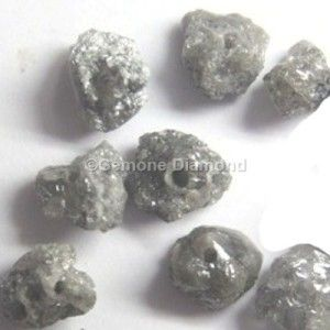 LOT OF 1.00 CT natural gray rough uncut loose diamond beads FOR NECKLACE THAT WILL MAKE YOU LOOK REALLY GORGEOUS at wholesale price.