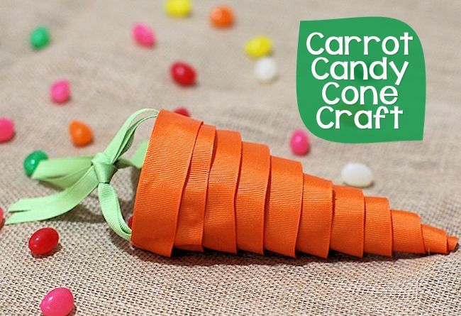 Candy Carrot Cone Craft