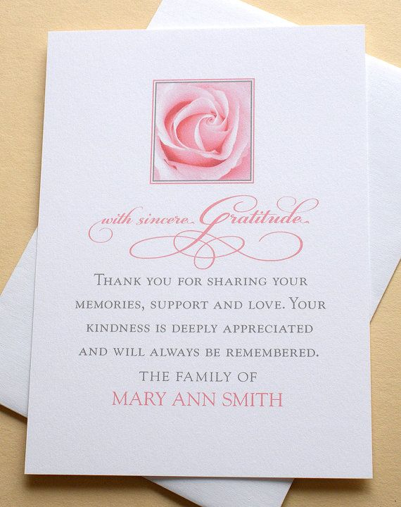 25 best ideas about sympathy thank you notes on pinterest