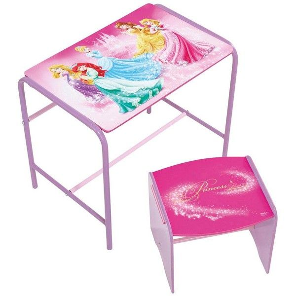 Disney Princess Doodle Table &Amp; Stool By Hellohome ($50) ❤ liked on Polyvore featuring home, children's room and children's furniture