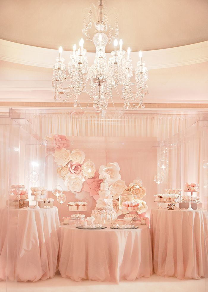 Extravagant oversized silk flowers for a dessert table backdrop