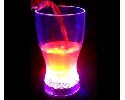 Led Işıklı Kokteyl Kola Bardağı