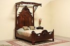 victorian canopy bed with half tester