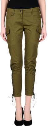 JUST CAVALLI Casual pants - Shop for women's Pants - Military green Pants