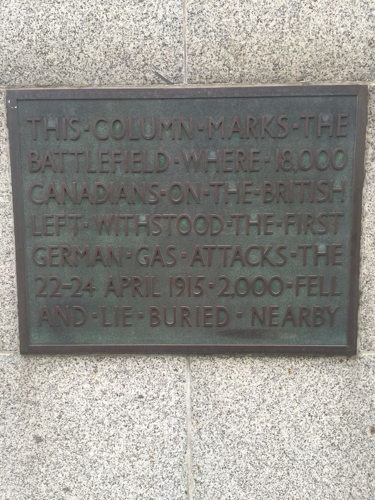 A tribute to the Canadian soldiers of WW1 killed by German gas attacks.