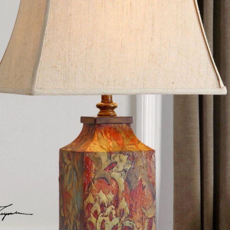 Katrine 32 Table Lamp In 2021 Lamp Decoupage Lamp Ceramic Lamp Base