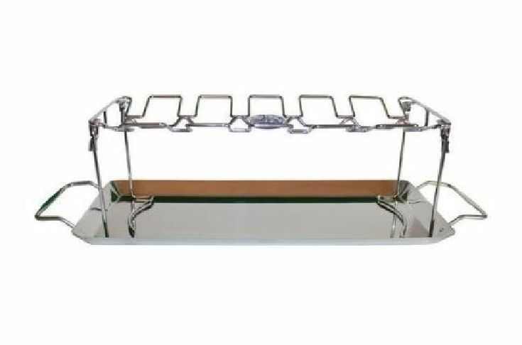 Jim Beam 12 Piece Stainless Steel Folding Chicken Wing Rack for BBQ Grilling New #JimBeam