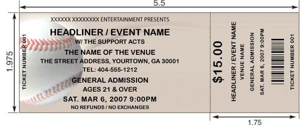 Doc500231 Ticket Template Free Download Free Printable Event – Ticket Template Free Download