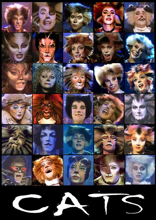 cats the musical  i appreciate that the characters are pictured in alphabetical order