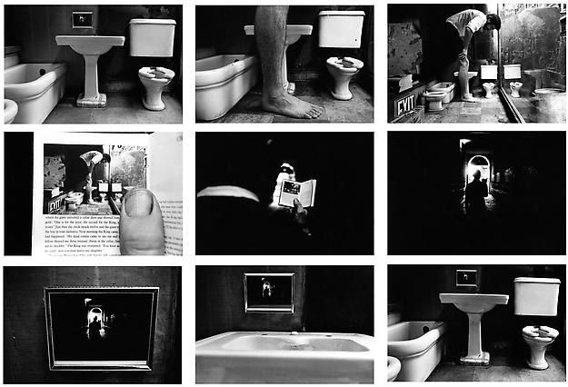 Things Are Queer, 1973. 9 gelatin silver prints with hand-applied text, 4 x 5 inch images on 5 x 7 inch sheets.